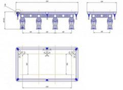 Размеры бильярдных столов