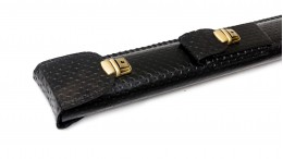Сагайдак для кия з кишенею чорний крапка