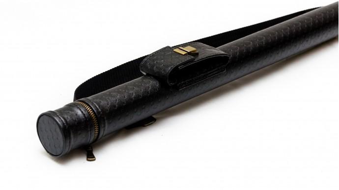 Тубус для кия с карманом на замке черный точка