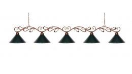 Світильник більярдний Антiк 5 плафона