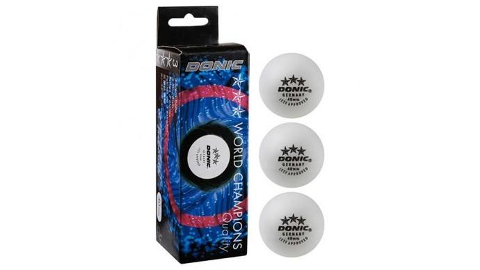 Кульки для настільного тенісу Donic 3 *, 3шт, білий