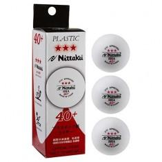 для настільного тенісу Nittaki, 3шт, білий